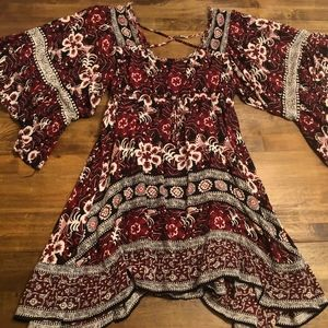 NWOT Flowy Cinch Waist Boho Dress | World Market